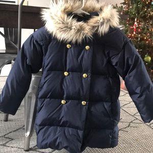 Crewcuts navy puffer duffle coat size 8